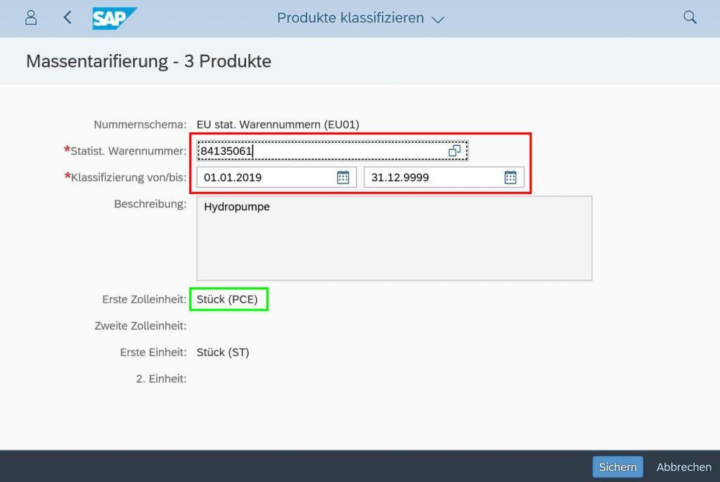 Im SAP S/4HANA Produkte klassifizieren