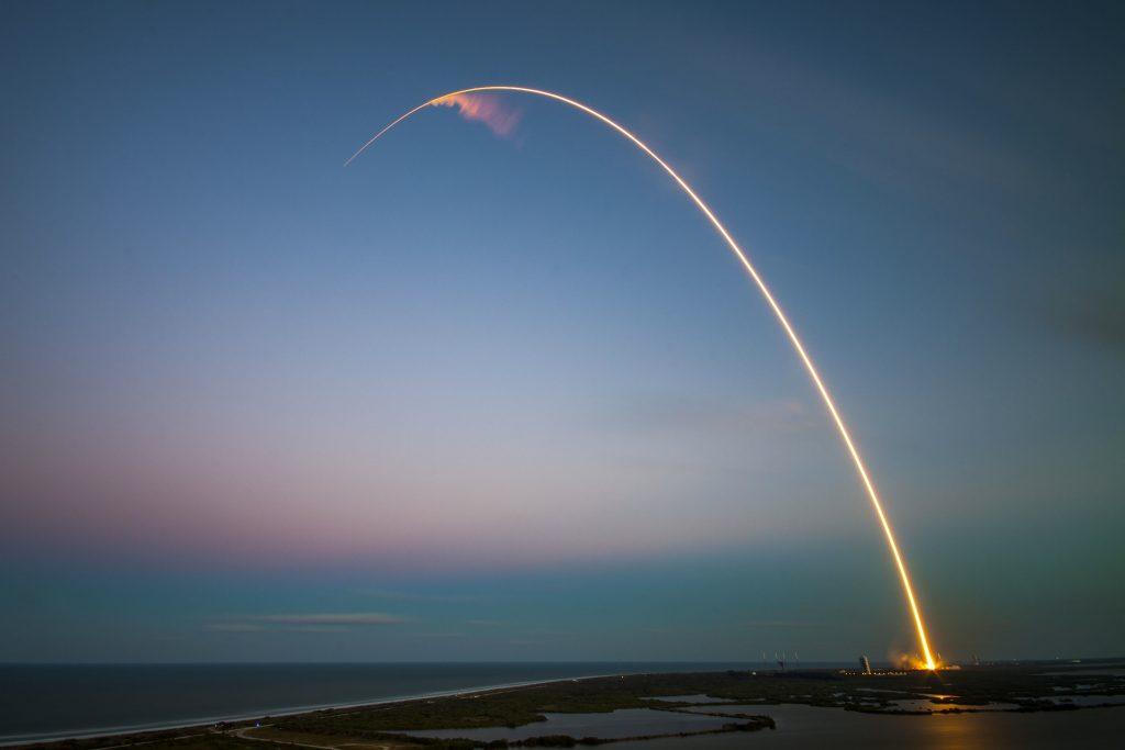 aufsteigende Rakete