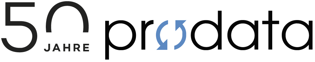 prodata Logo 50 Jahr Jubiläum