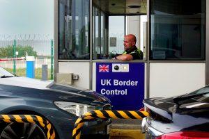 Grenzkontrollhäuschen an britscher Grenze