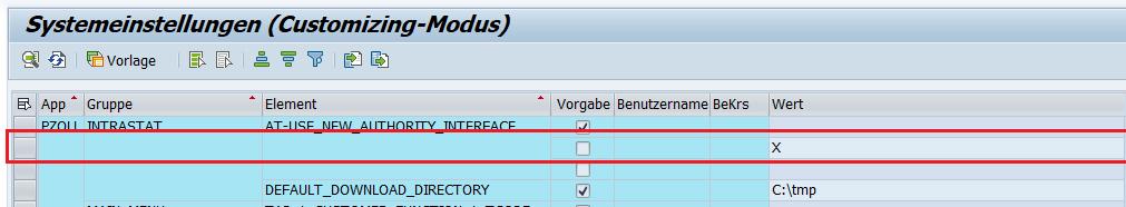 SAP Customizing der prodata Software pZoll Intrastat